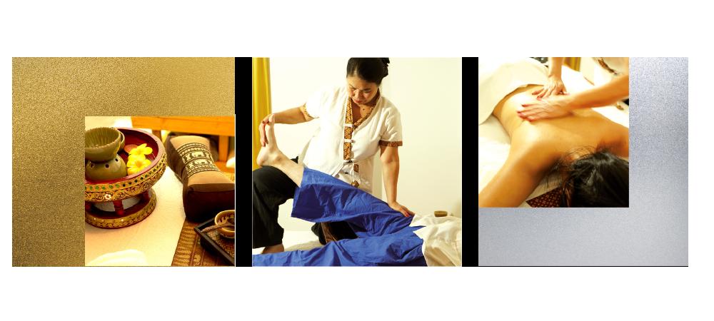 Thai Massage & Spa - Bung-On bei der Massage einer Klientin